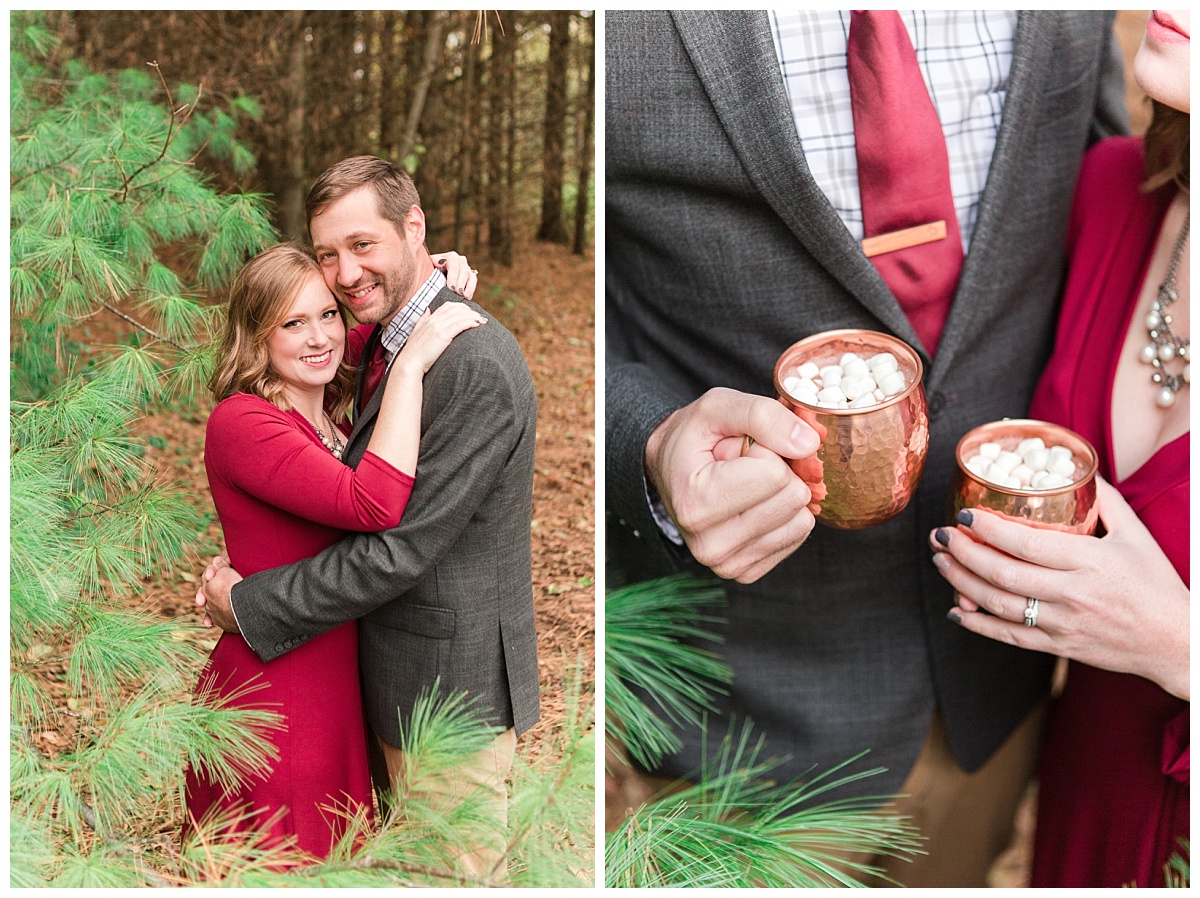 A Holiday-Inspired Newlywed Session in the Woods