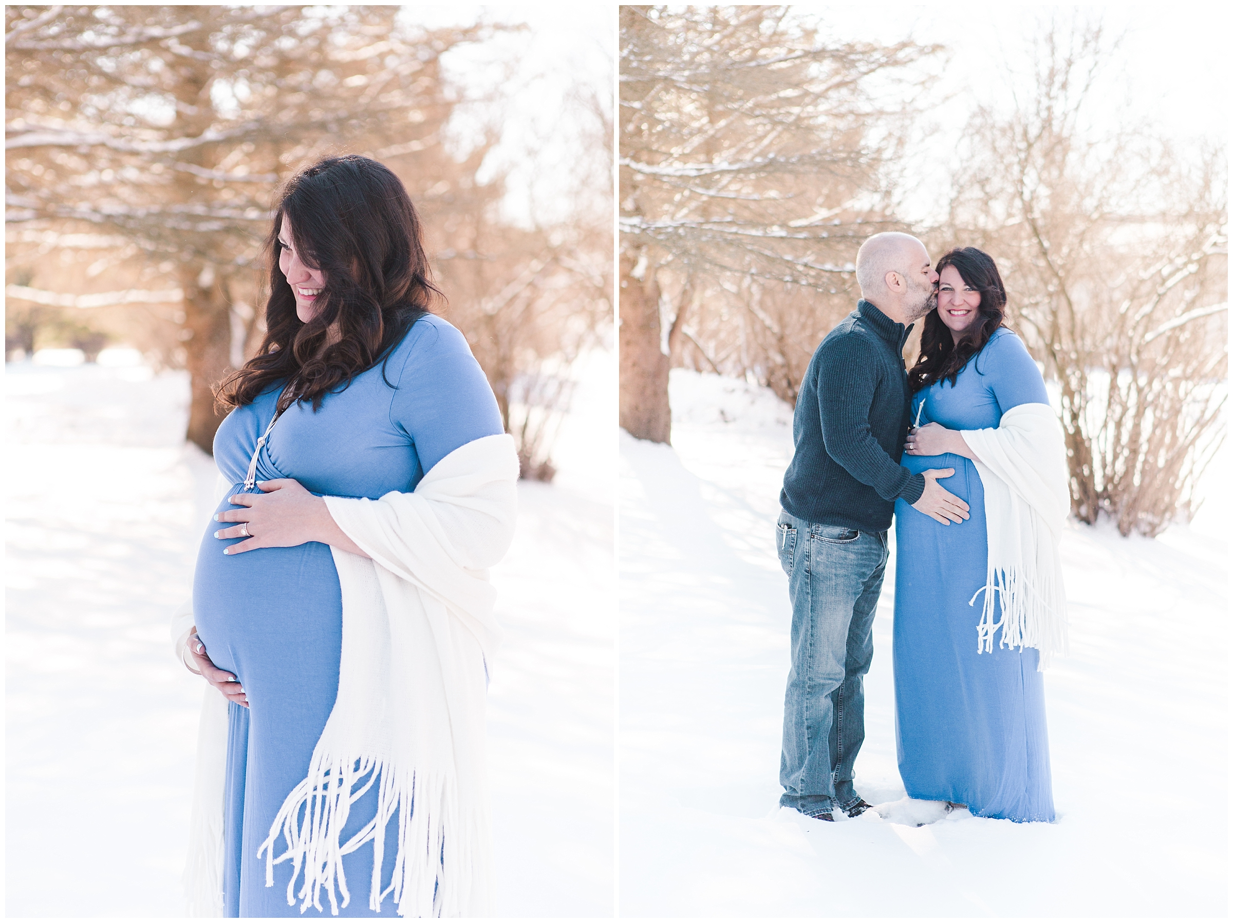 Winter Wonderland Maternity Session in Wisconsin
